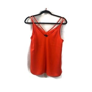 Top shop orange blouse with spaghetti straps